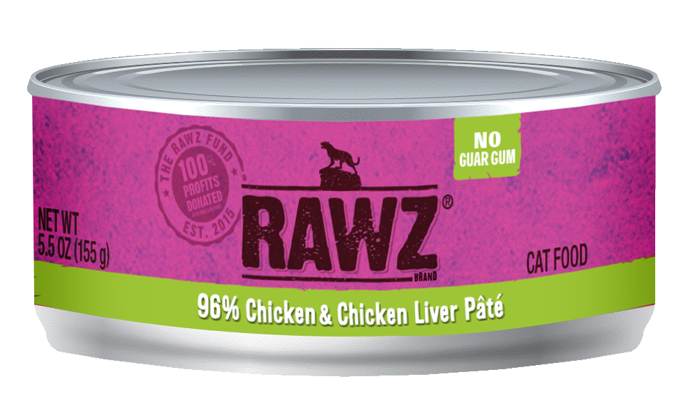 Rawz 96% Chicken & Chicken Liver for Cats 5.5oz