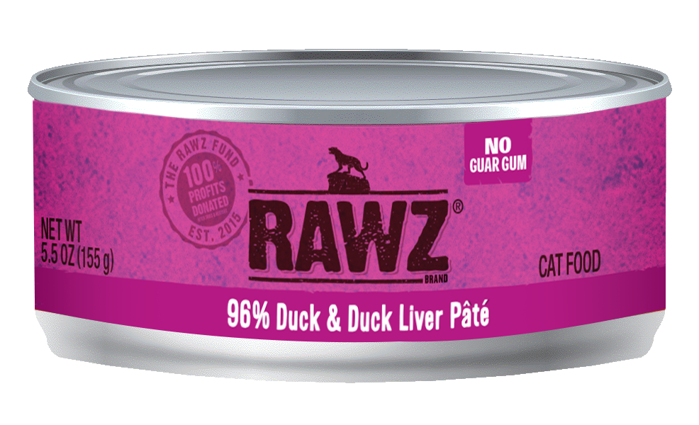 Rawz 96% Duck & Duck Liver for Cats 5.5oz