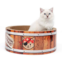 Catit Play Pirates Barrel Scratcher with Catnip - Large - 42 cm (16.5 in)