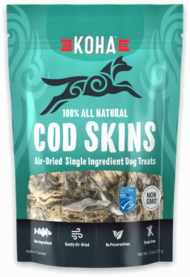 KOHA Air Dried Cod Skins 2.5oz
