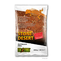 Exo Terra Stone Desert Substrate - Outback Red Stone - 20 kg (44 lbs)