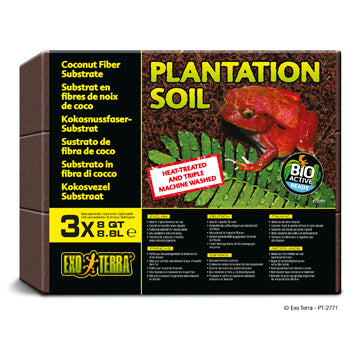 Exo Terra Plantation Soil - Bricks - 3 x 8 qt (3 x 8.8 L)