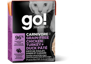 GO Carnivore Grain Free Chicken Turkey and Duck Pate for Cats 6.4oz