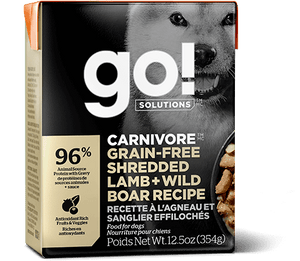 GO Carnivore Grain Free Shredded Lamb + Wild Boar for Dogs 12.5oz