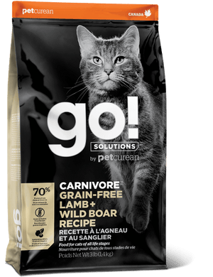 GO Carnivore Grain Free Lamb + Wild Boar for Cats 3lb