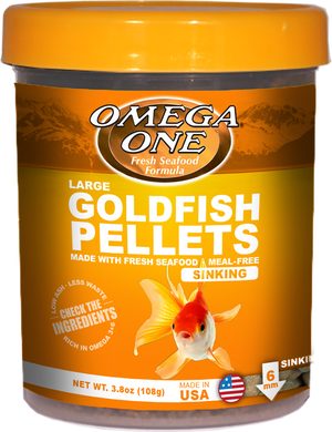 Omega One Sinking Goldfish Pellets (LG, 6mm) 3.8 oz
