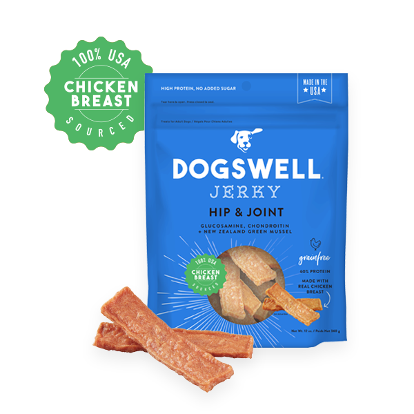 Dogswell Hip & Joint Chicken Jerky - 4oz