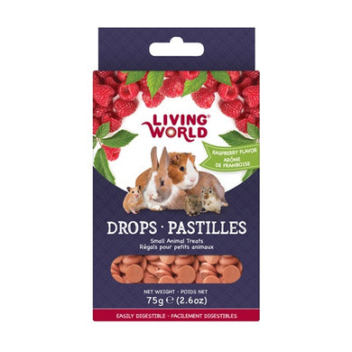 Living World Small Animal Drops - Raspberry, 75g