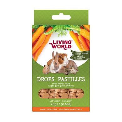Living World Small Animal Drops - Carrot, 75g