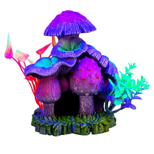 Marina iGlo Ornament - Mushroom House with Plants -