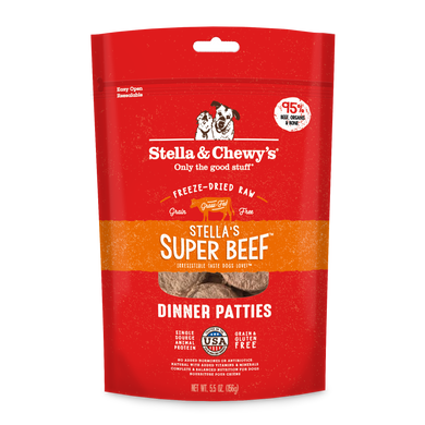 Stella & Chewy's Stella's Super Beef Freeze-Dried Dinner Patties 6oz