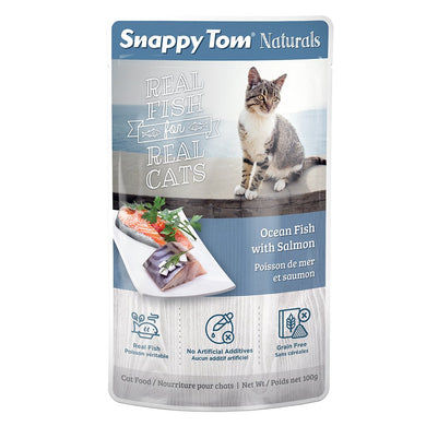 100g Snappy Tom Naturals Ocean Fish w/Salmon - Feline
