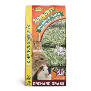 Higgins Sunburst Break-A-Bale Orchard Grass Hay - 35 oz