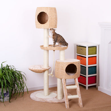 Pet Pals Multi-Level Cat Tree w/Ladder 31x23x64