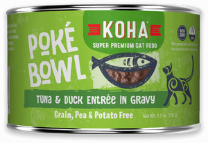 KOHA Poke Bowl Tuna & Duck Entree in Gravy for Cats 5.5oz