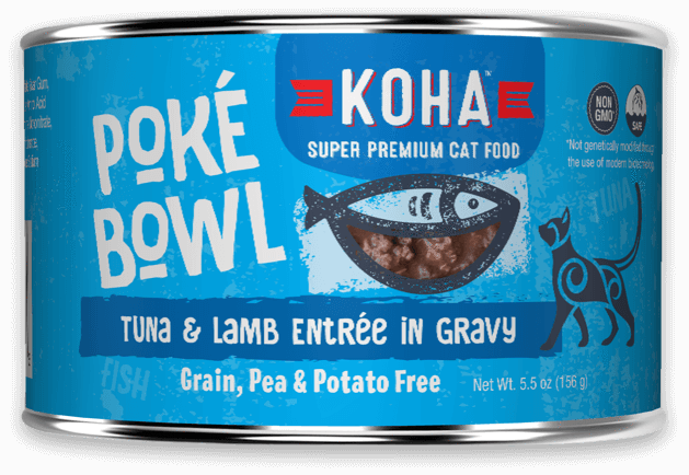 KOHA Poke Bowl Tuna & Lamb Entree in Gravy for Cats 5.5oz