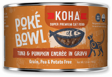 KOHA Poke Bowl Tuna & Pumpkin Entree in Gravy for Cats 5.5oz