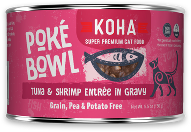 5.5oz KOHA Poke Bowl Tuna & Shrimp Entree in Gravy for Cats