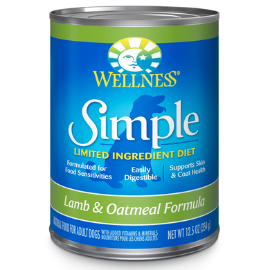 12.5oz Wellness Simple Solutions Lamb - Canine