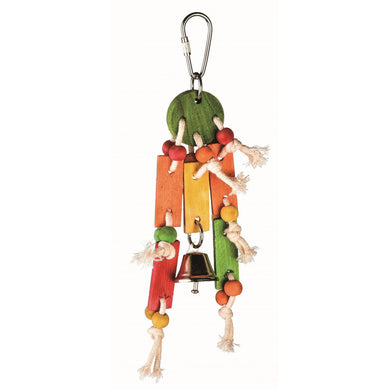Jolly Jungle Small Coin Toss Bird Toy with Bell