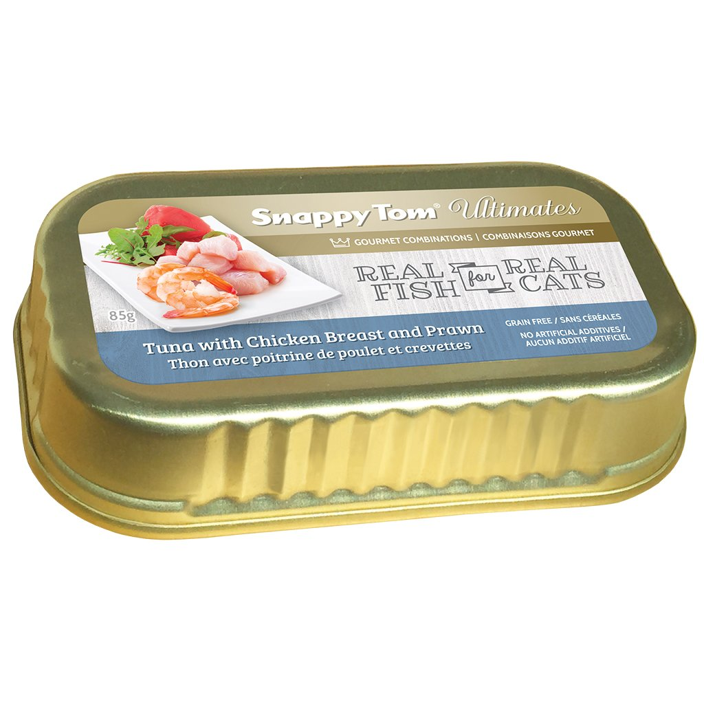 Snappy Tom Ultimates Tuna w/Chicken Breast & Prawn for Cats 85g