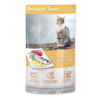100g Snappy Tom Naturals Tuna & Mackerel - Feline
