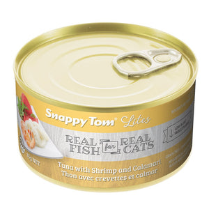 Snappy Tom Lite Dinners Tuna, Shrimp, Calamari for Cats 156g