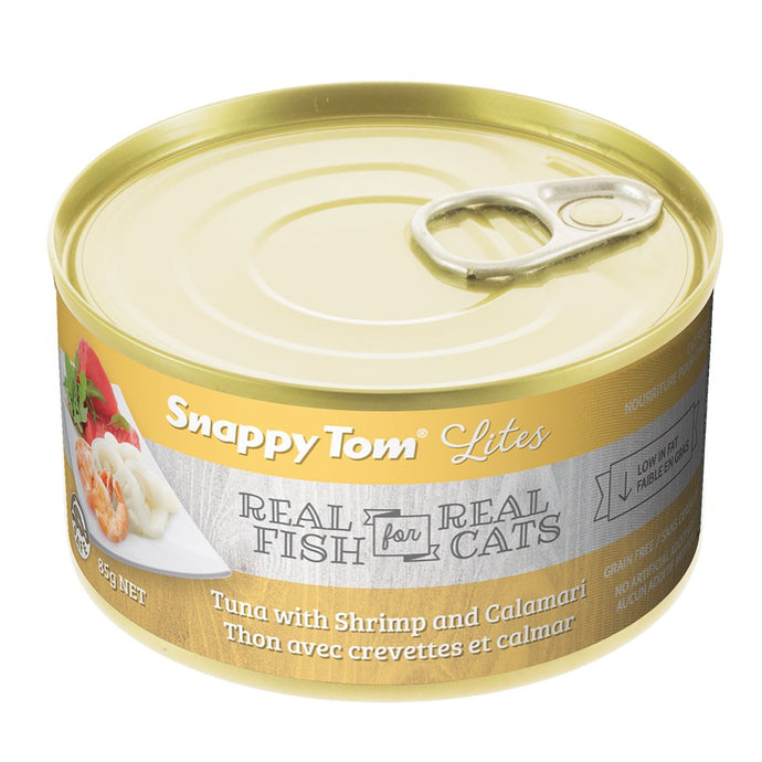 Snappy Tom Lite Dinners Tuna, Shrimp, Calamari for Cats 85g