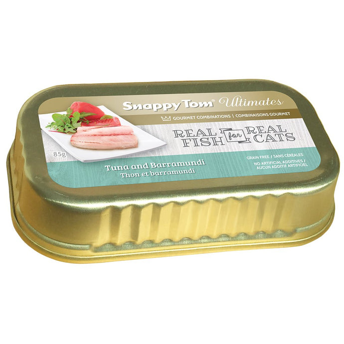Snappy Tom Ultimates Tuna w/Barramundi for Cats 85g
