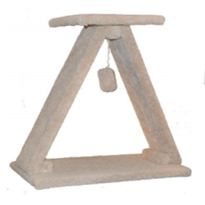 TNS A-Frame Cat Scratch w/ Platform and Hanging Toy