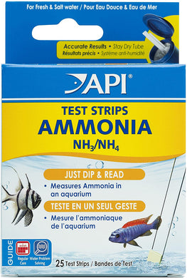 API #33D Ammonia Aquarium Test Strips