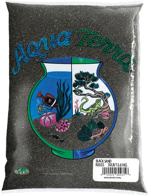 Pure Water Pebbles (Aqua Terra) Black Sand 5lb bag