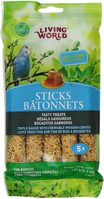 Living World Budgie Honey Sticks - 5 pack
