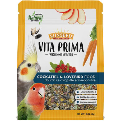 3lb Sunseed Vita Prima Cockatiel & Lovebird Food