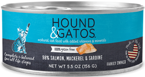 Hound & Gatos Salmon, Mackeral, Sardine for Cats 5.5oz