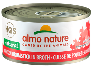 Almo Nature Chicken Drumstick In Broth for Cats 2.5oz Can