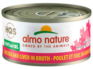 Almo Nature Chicken & Liver Broth for Cats 2.5oz Can