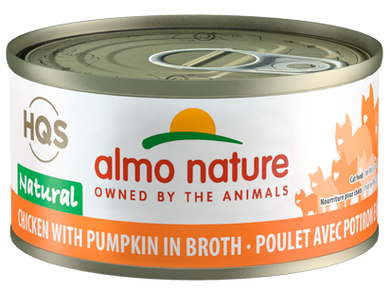 Almo Nature Chicken & Pumpkin In Broth for Cats 2.5oz Can