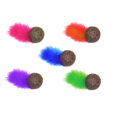 MultiPet Catnip Ball w/ Feather - 5