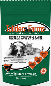 Tollden Farms Turkey & Veg 8lb