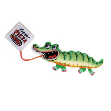 FUZZU Fast Food Cat Toy - Gator & Pizza