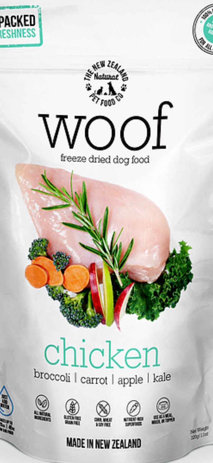 NZPF WOOF Chicken 320g