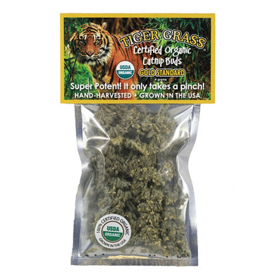 Tiger Grass Catnip Bud Bag, 4g