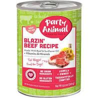 Party Animal Blazin' Beef for Dogs 13oz