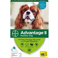 Advantage II Medium Dog 4pk 1ml