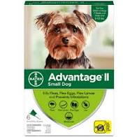Advantage II Small Dog 4pk 0.4ml