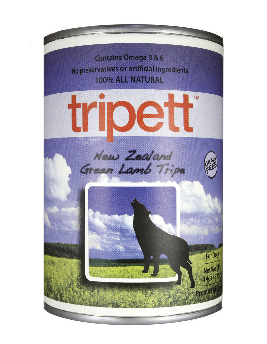 Tripett Green Lamb Tripe for Dogs 13oz