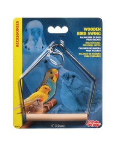 Living World Wooden Bird Swing - Medium