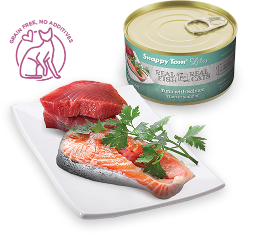 Snappy Tom Lite Dinners Tuna & Salmon for Cats 156g