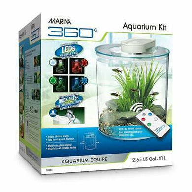Marina 360 Aquarium Kit - 10 L (2.65 US gal)